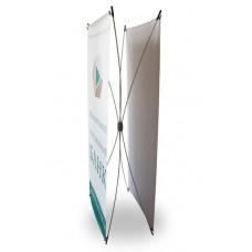 Двухсторонний Х-баннер 80x180 см